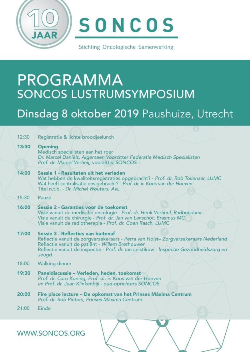 Programma SONCOS lustrumsymposium